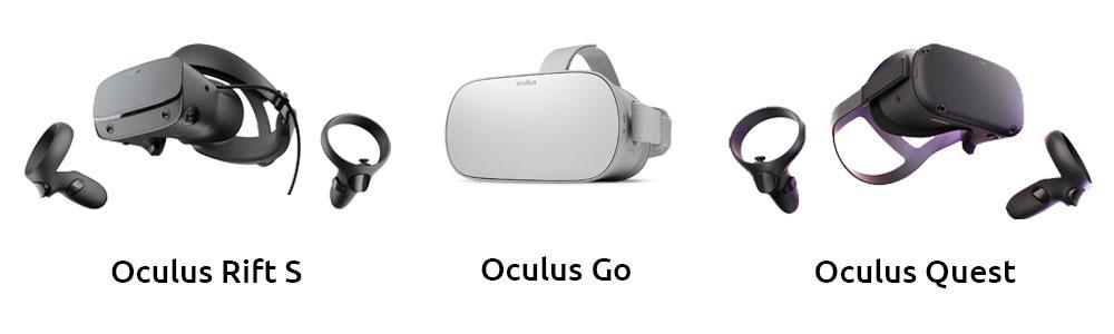 Oculus Rift S, Oculus Go & Oculus Quest